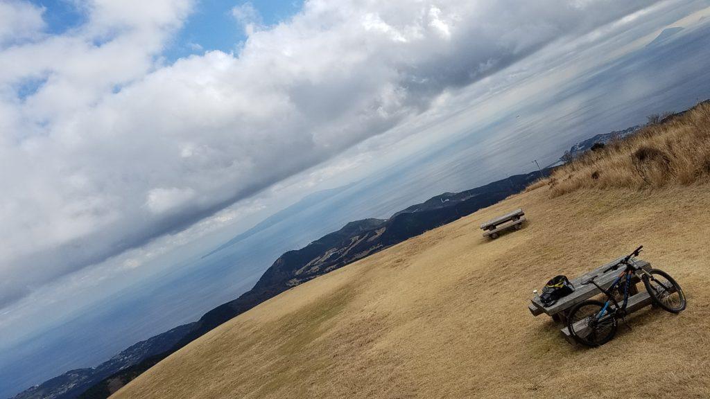 MTB 細野高原 三筋山 山頂 絶景